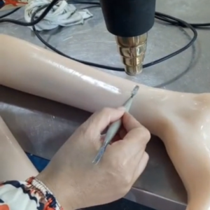 How to repair a small cut of TPE doll simply with a heat gun