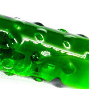 Emerald cucumber- glass dildo